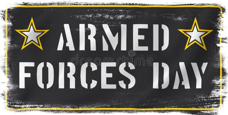 Jour de forces armées des USA illustration libre de droits