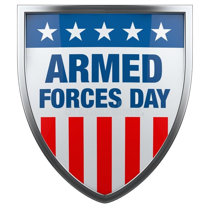 Jour de forces armées Etats-Unis illustration de vecteur