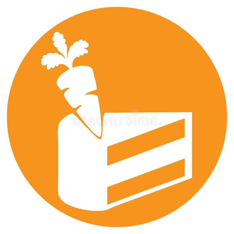 Jour de gâteau à la carotte illustration stock