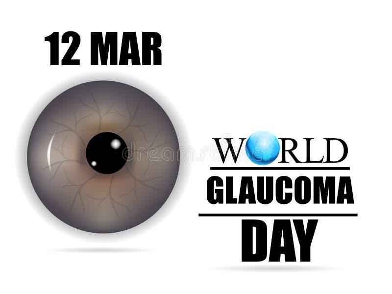 Jour de glaucome illustration stock