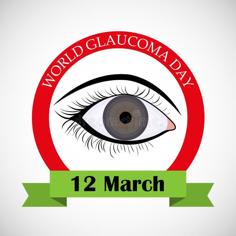 Jour de glaucome illustration libre de droits