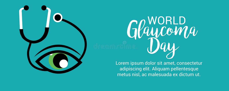 Jour de glaucome du monde illustration de vecteur