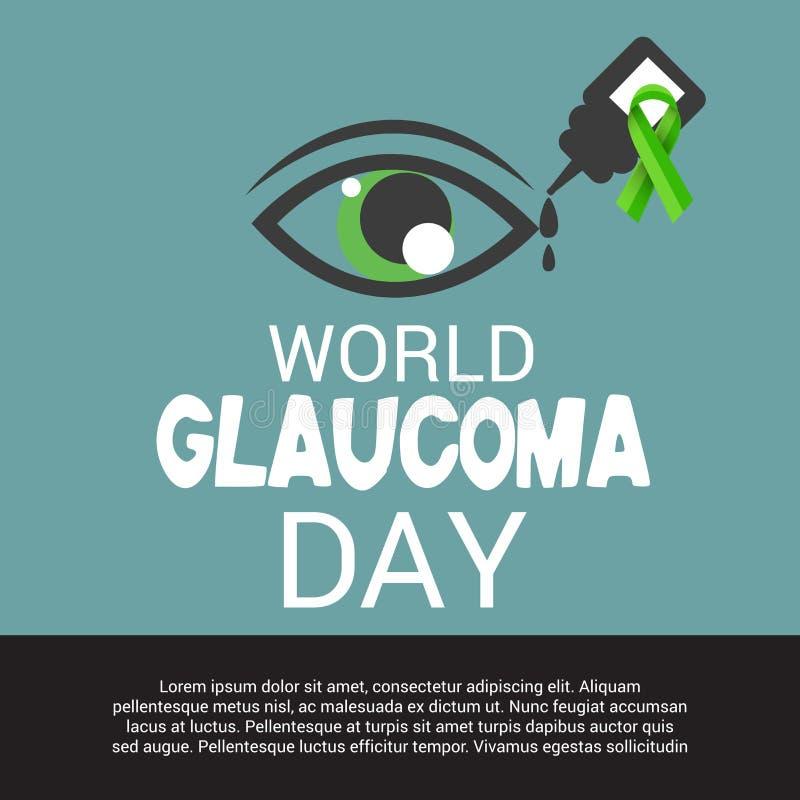 Jour de glaucome du monde illustration libre de droits