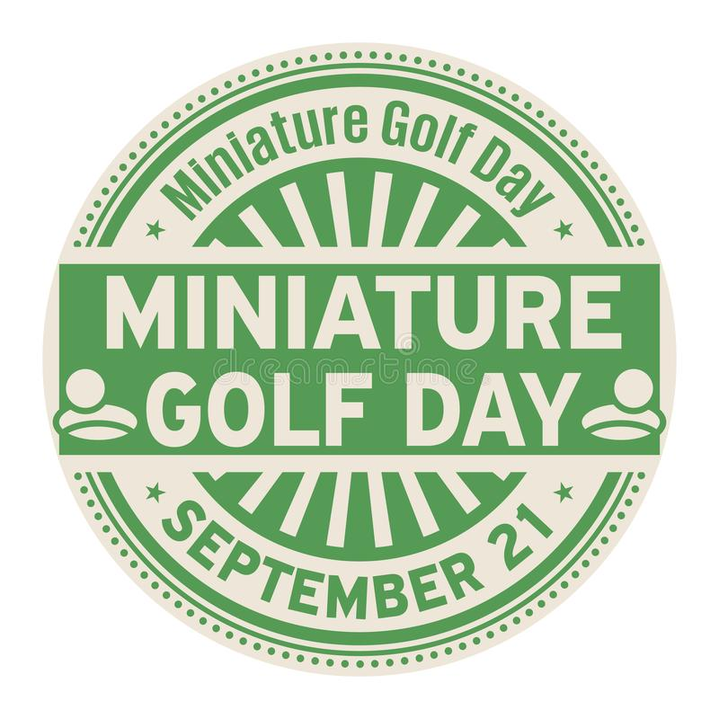 Jour de golf miniature, le 21 septembre illustration libre de droits