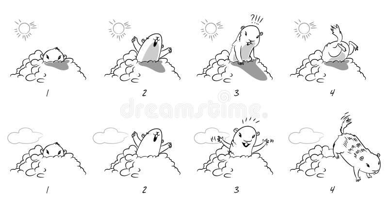 Jour de Groundhog illustration de vecteur