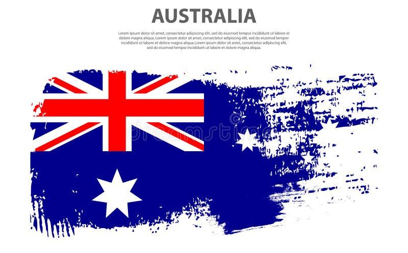 Jour de l'Australie Vacances patriotiques nationales dans l'Australie Animal reconnaissable de kangourou dans le pays illustration libre de droits