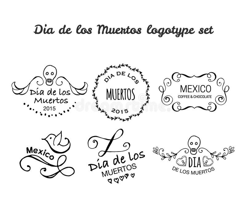 Jour de l'ensemble mort de logotype de vecteur illustration libre de droits