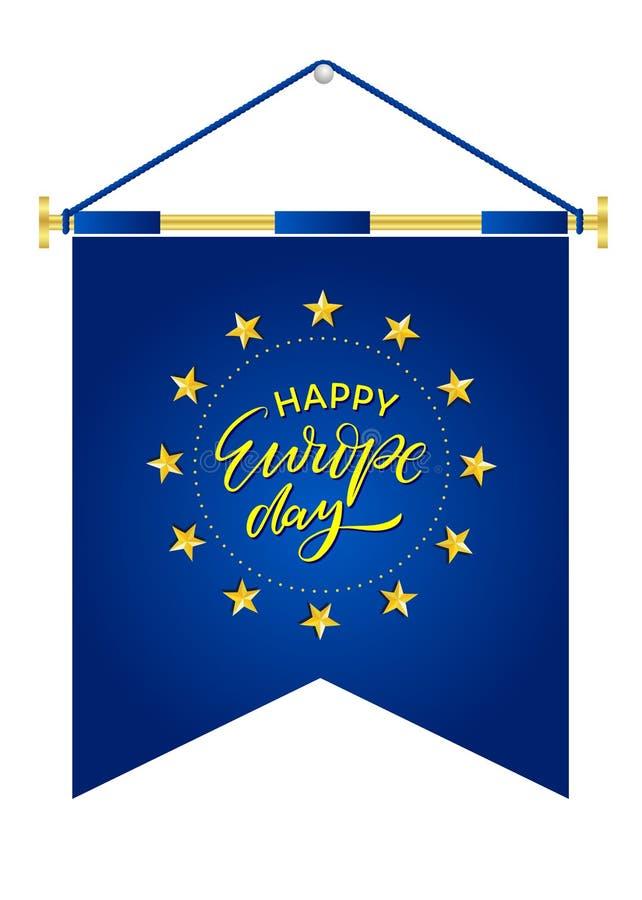 Jour de l'Europe Jour f?ri? annuel en mai illustration libre de droits
