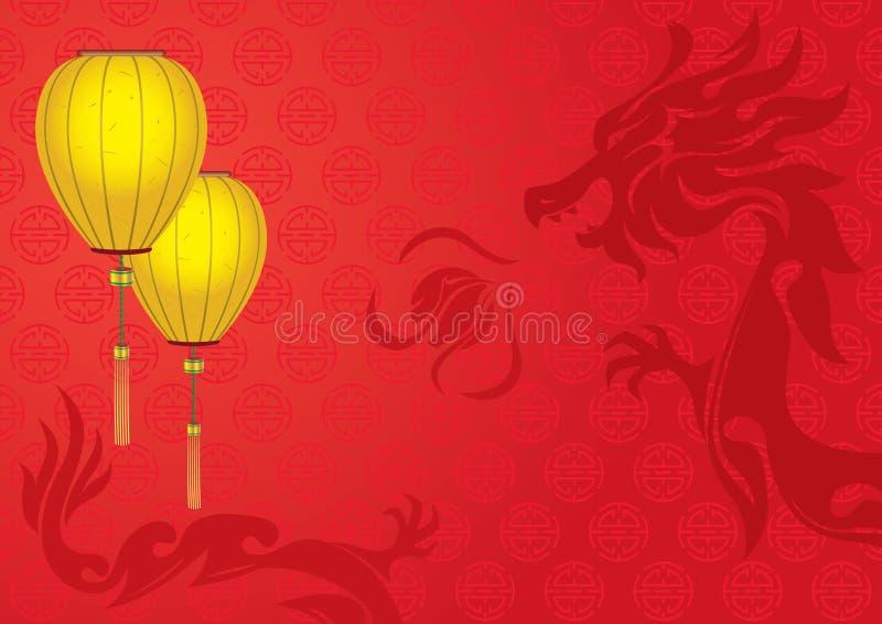 Jour de l'an - fond 2012 de dragon illustration stock