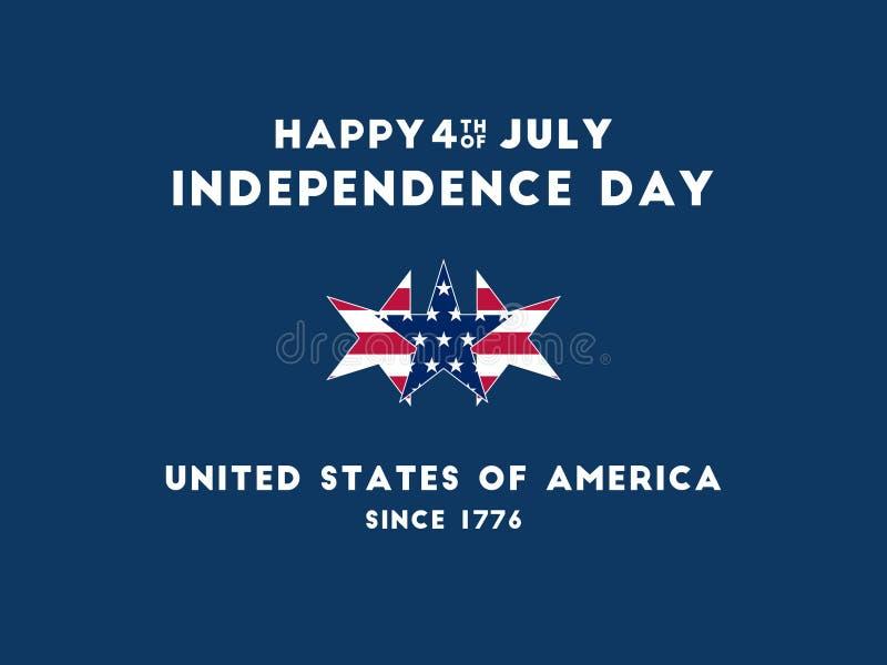 Jour de la Déclaration d'Indépendance - 4ème à juillet photo stock