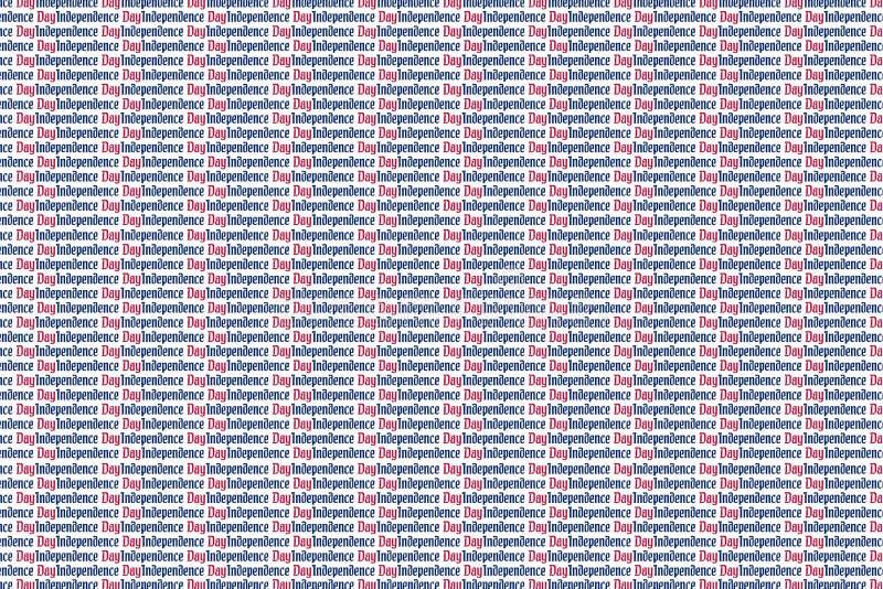 Jour de la Déclaration d'Indépendance, beaucoup d'inscription sur un fond blanc Fond de l'Amérique de Jour de la Déclaration d'In photo libre de droits