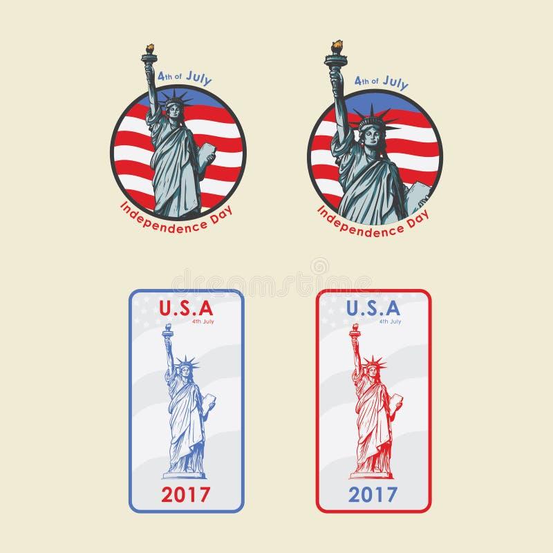 Jour de la Déclaration d'Indépendance des Etats-Unis photo libre de droits