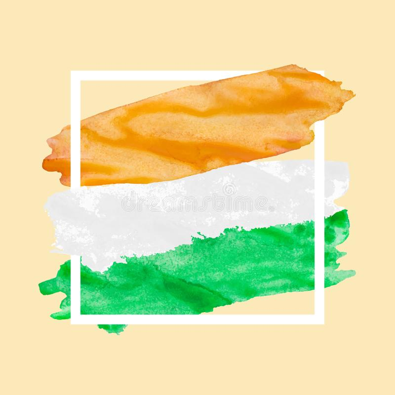 Jour de la Déclaration d'Indépendance drapeau heureux de l'Inde du 15 août image libre de droits