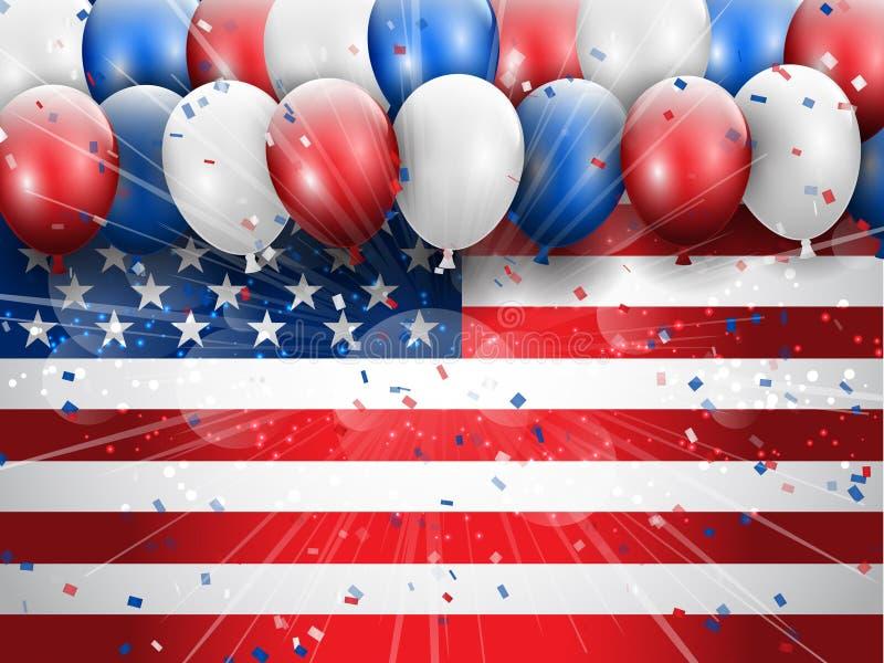 Jour de la Déclaration d'Indépendance fond de célébration du 4 juillet illustration stock