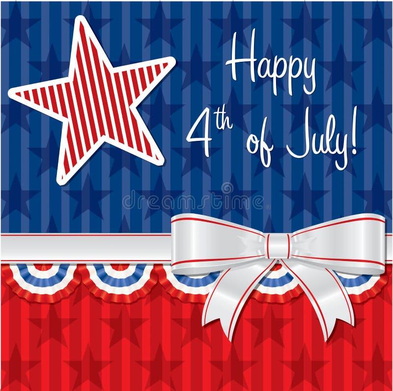 Jour de la Déclaration d'Indépendance heureux ! illustration stock