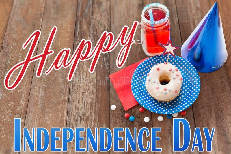 Jour de la Déclaration d'Indépendance heureux images libres de droits
