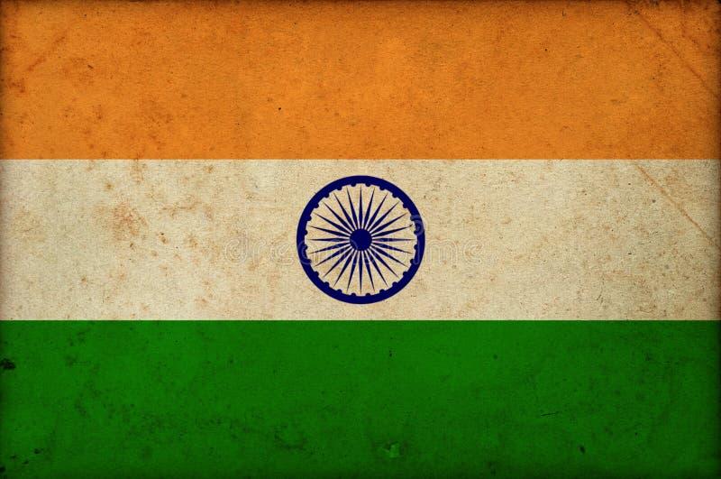 Jour de la Déclaration d'Indépendance indien national grunge d'Inde de drapeau photos libres de droits