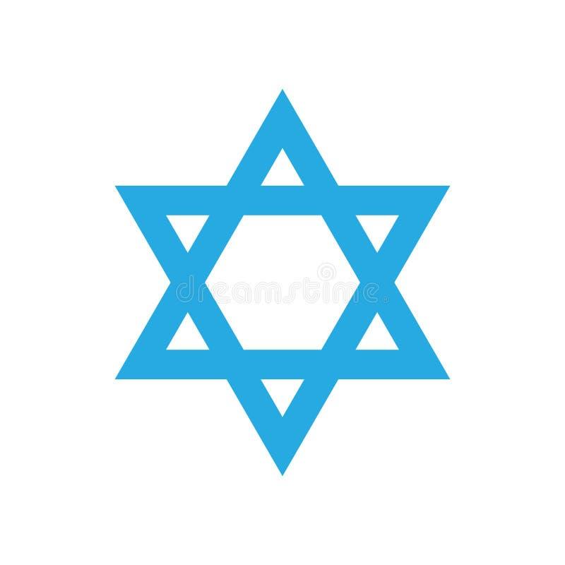 Jour de la Déclaration d'Indépendance israélien de l'étoile 70 illustration de vecteur