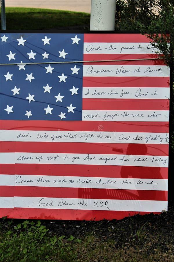 Jour de la Déclaration d'Indépendance, quatrième de juillet, Etats-Unis d'Amérique photos stock