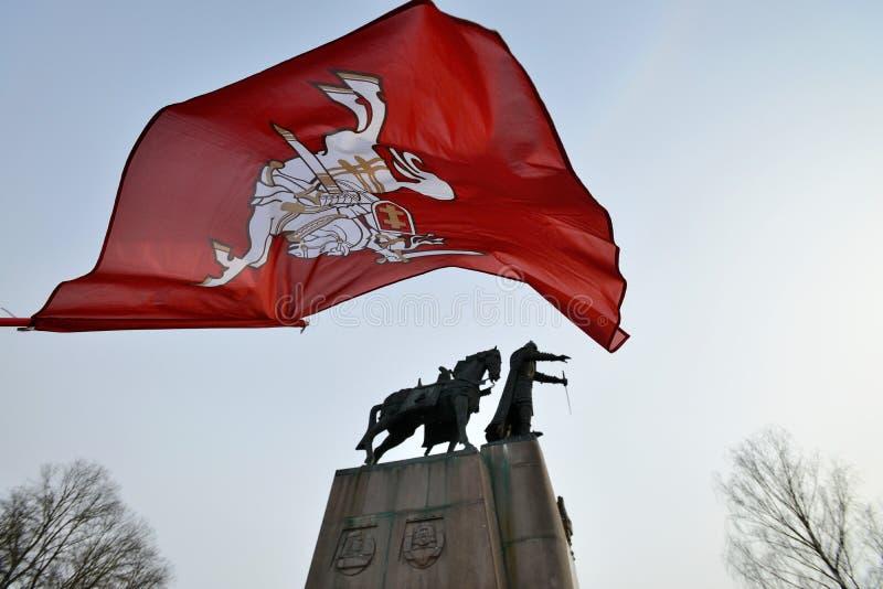 Jour de la Déclaration d'Indépendance, Vilnius, Lithuanie photographie stock libre de droits