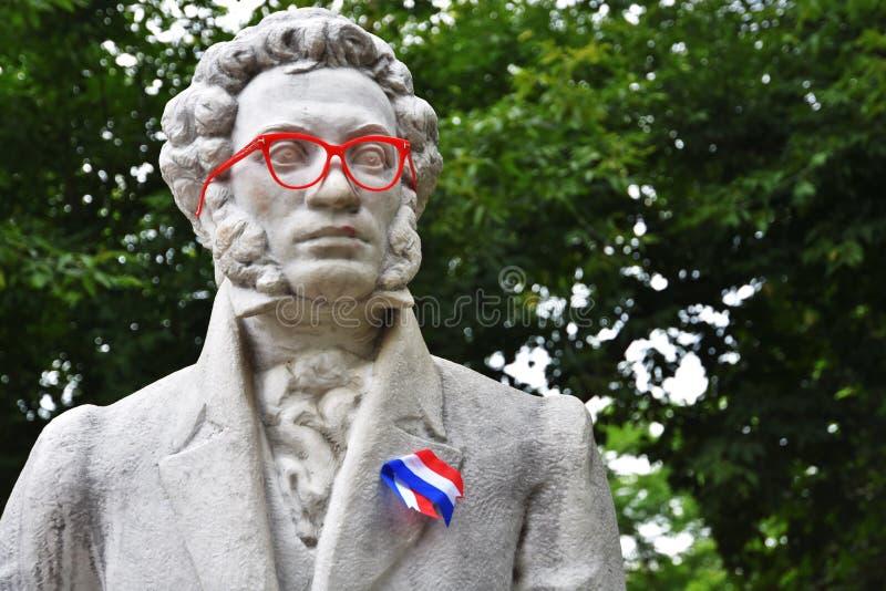 Jour de la France, le 14 juillet, célébrations de jour de bastille à Moscou photographie stock libre de droits