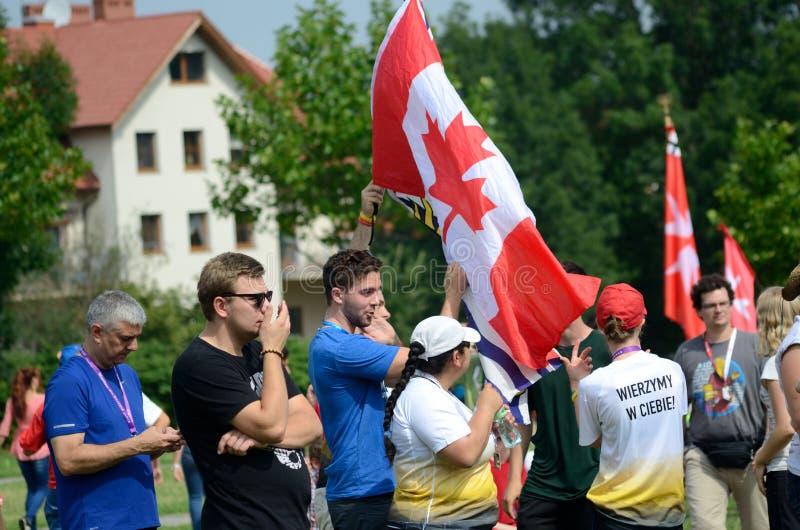 Jour 2016 de la jeunesse du monde dans Trzebnica image stock