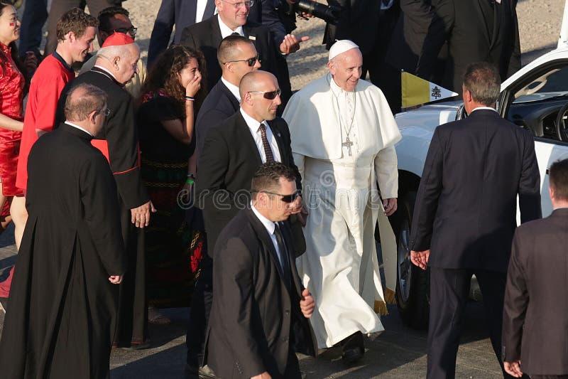 Jour 2016 de la jeunesse du monde - pape Francis photos stock