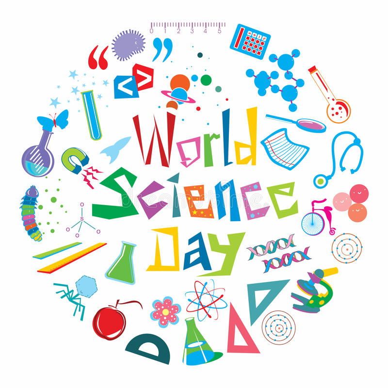 Jour de la Science du monde illustration libre de droits