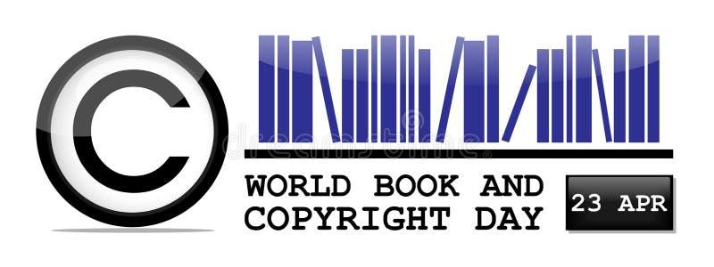Jour de livre et de copyright du monde illustration stock