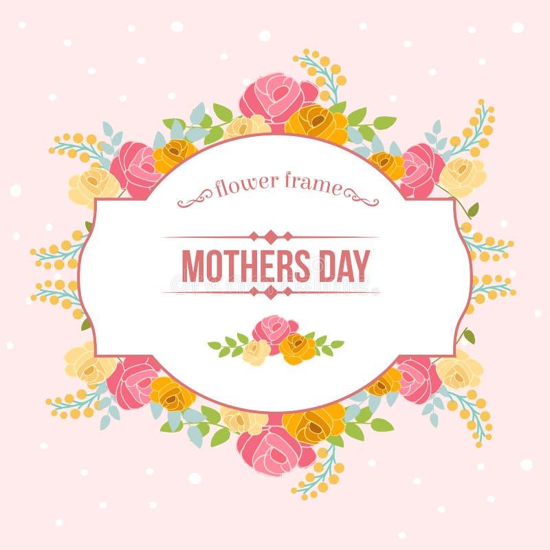 Jour de mères floral illustration libre de droits