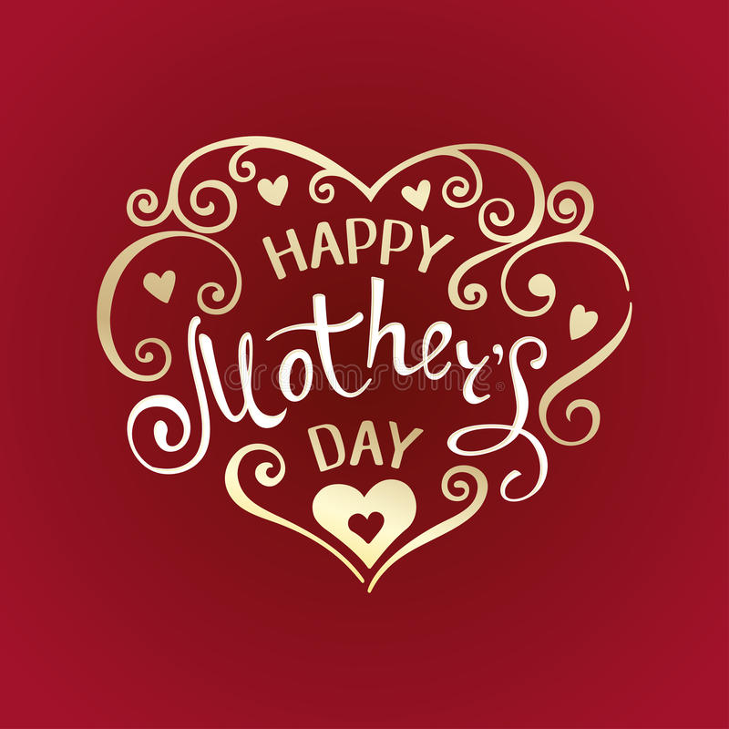 Jour de mères heureux illustration de vecteur