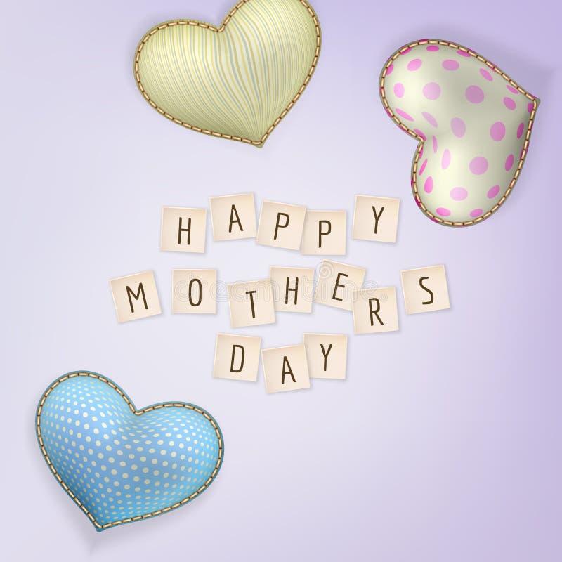 Jour de mères heureux ENV 10 illustration stock
