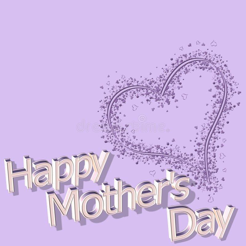 Jour de mères heureux le 14 mars illustration de vecteur