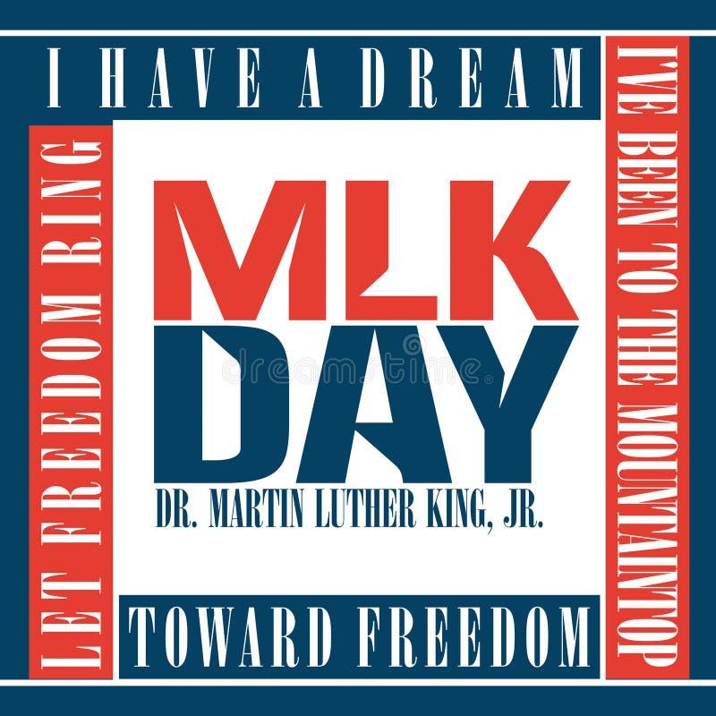 Jour de Martin Luther King illustration de vecteur