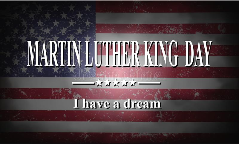Jour de Martin Luther King illustration stock