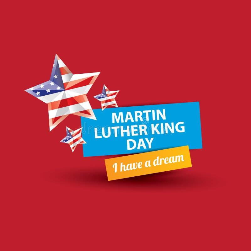Jour de Martin Luther King de vecteur nous autocollant ou label illustration de vecteur