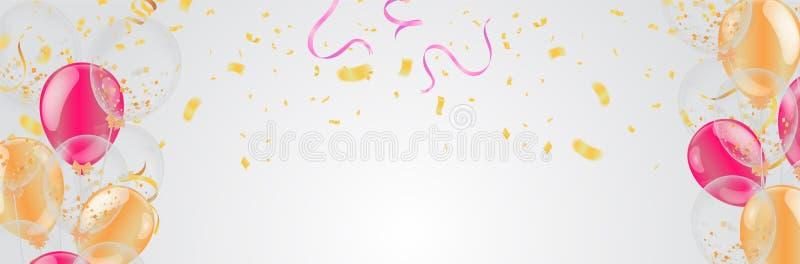 Jour de naissance de bonheur de conception de typographie de célébration de joyeux anniversaire à vous logo, carte, bannière illustration libre de droits