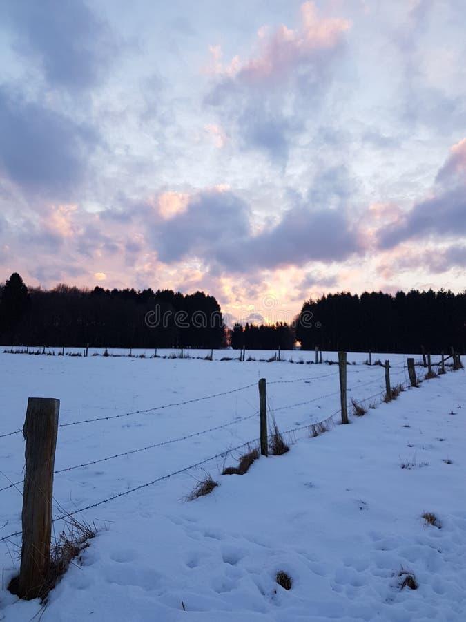 Jour de neige image libre de droits