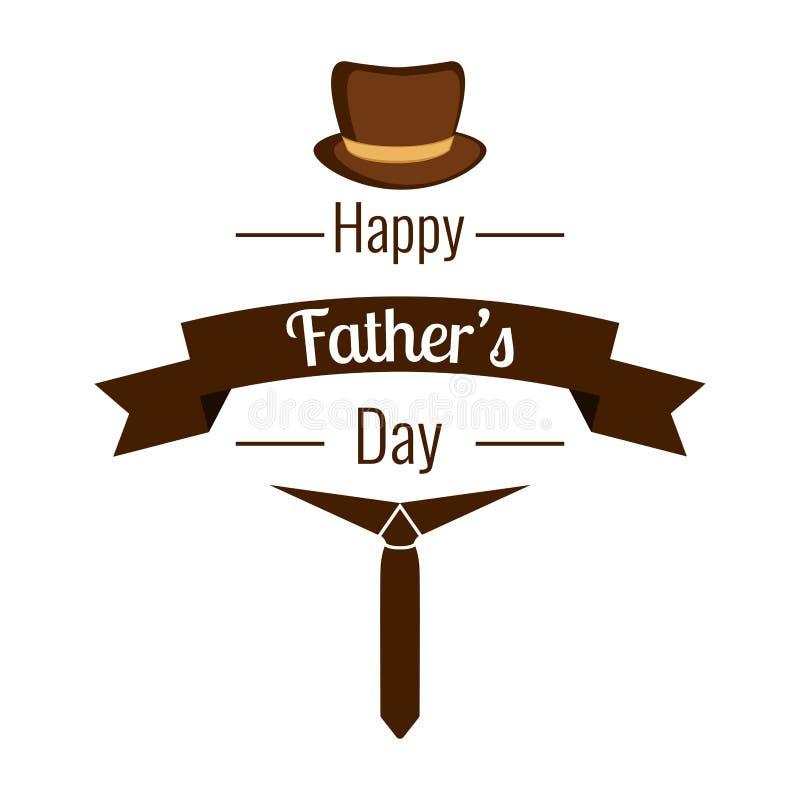 Jour de père heureux illustration libre de droits