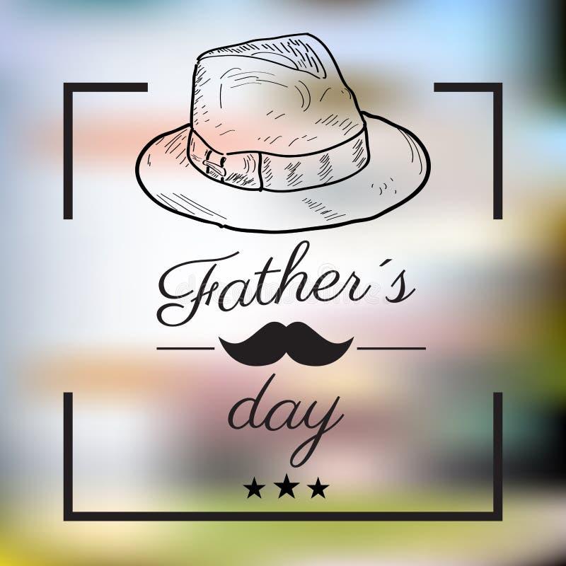 Jour de père heureux illustration stock