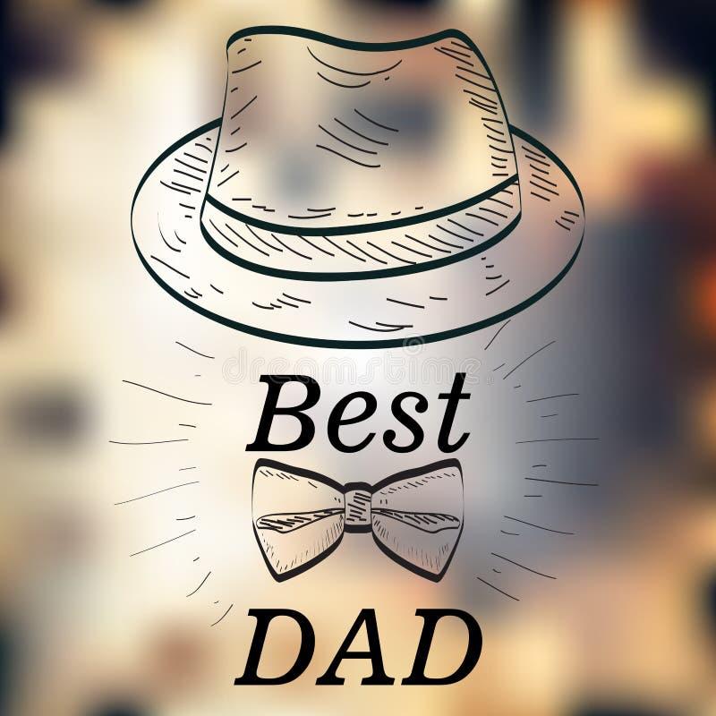Jour de père heureux illustration de vecteur