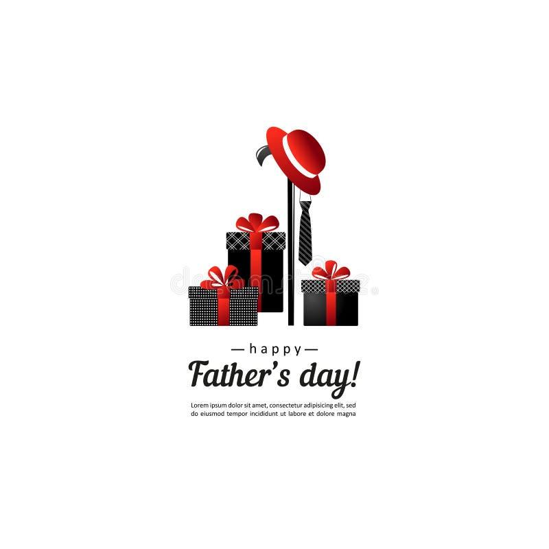 Jour de pères Composition pour votre conception illustration de vecteur