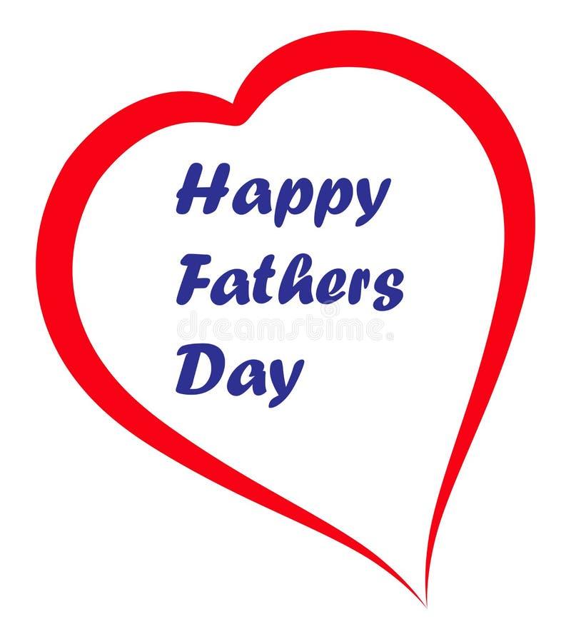 Jour de pères heureux illustration de vecteur
