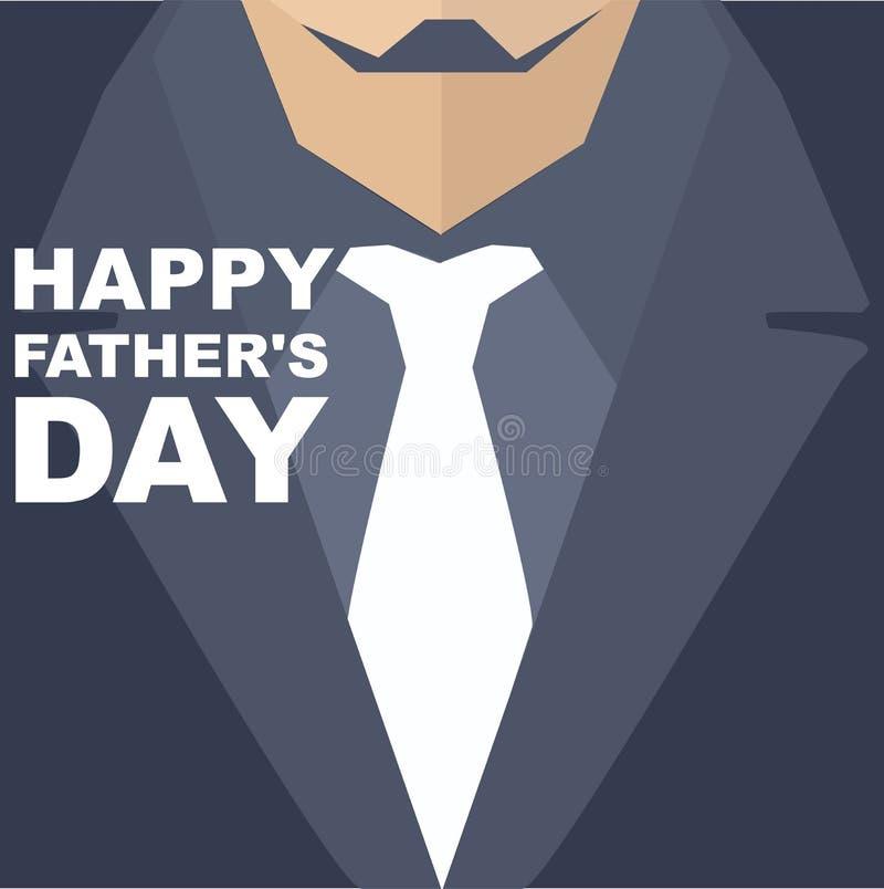 Jour de pères heureux Carte de voeux de calibre illustration stock