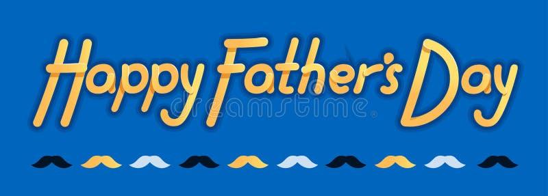 Jour de pères heureux - illustration pour la fête des pères - logo et slogan pour le T-shirt, la casquette de baseball ou la cart illustration de vecteur