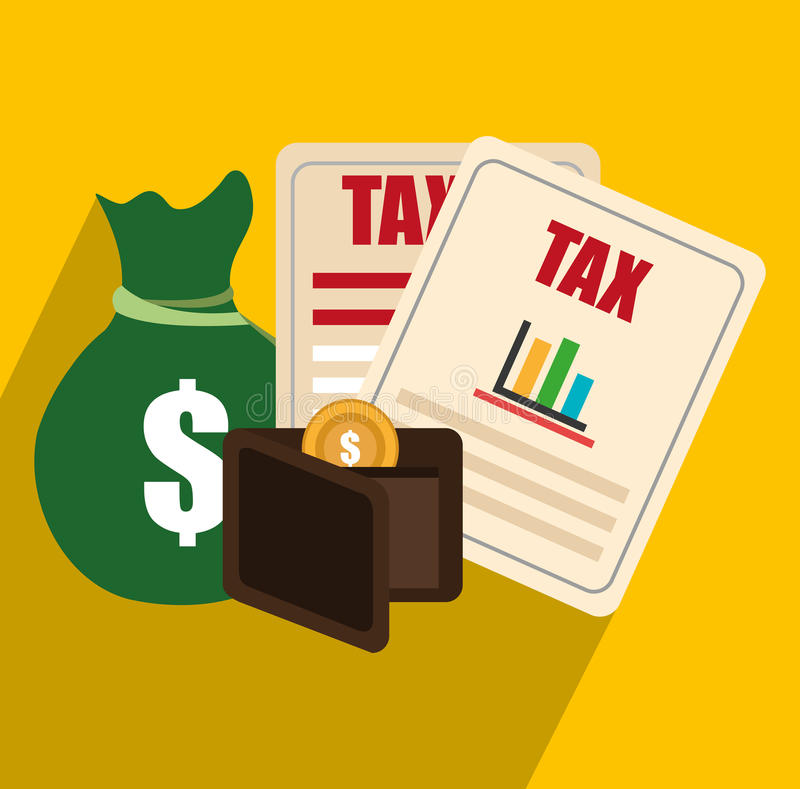 Jour de paiement d'impôts illustration libre de droits