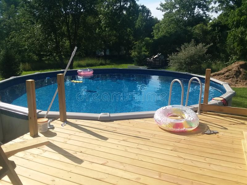 Jour de piscine photographie stock