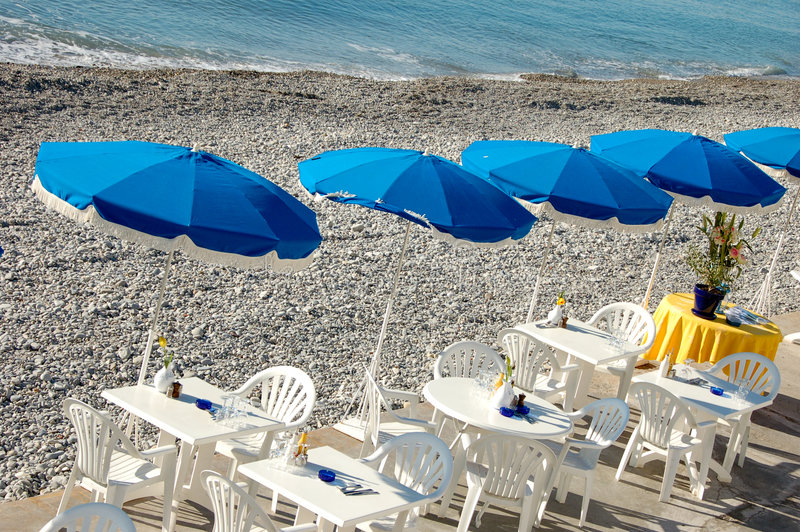 jour de plage ensoleillé photographie stock libre de droits