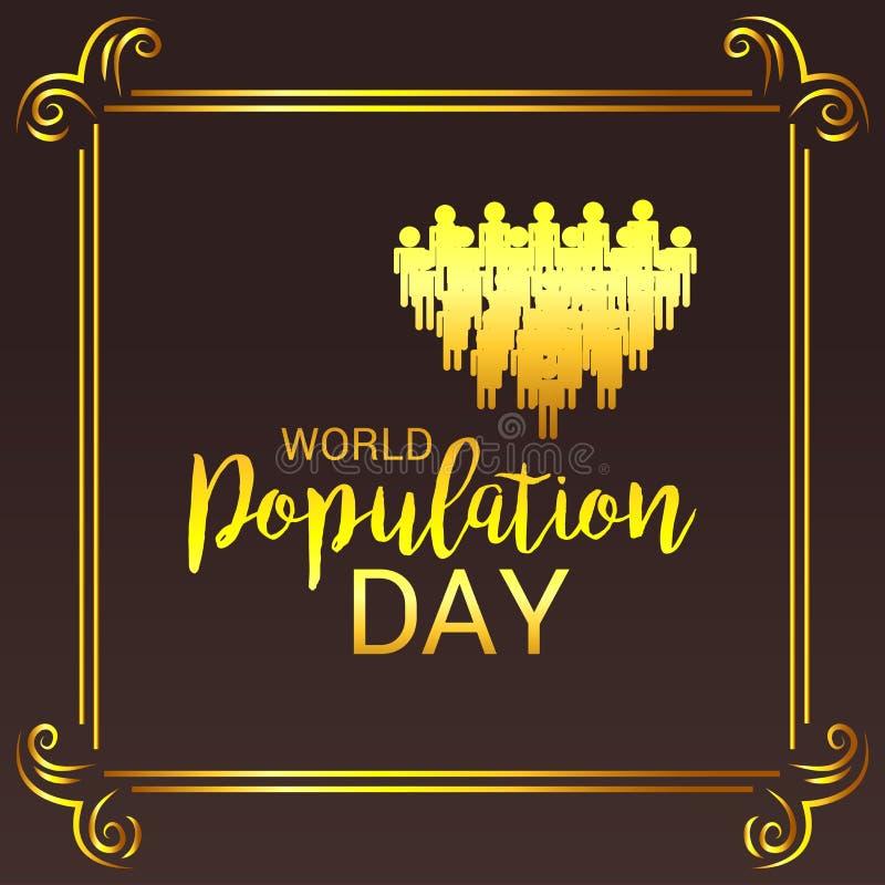 Jour de population mondiale illustration libre de droits
