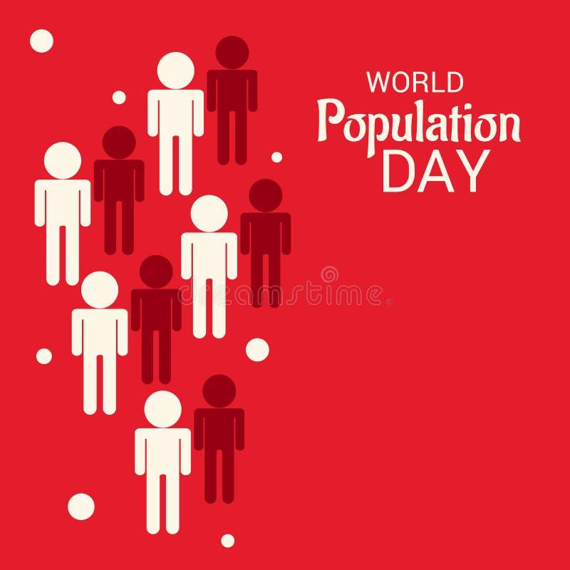 Jour de population mondiale illustration de vecteur